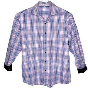 """Tasso Elba Plaid Button Down Shirt 16 - 16 1/2"""""""